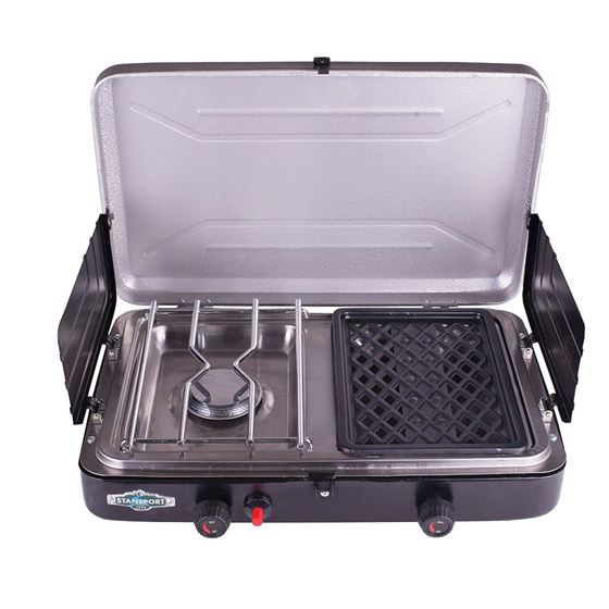 Test Stansport Propane Stove And Grill Combo With Piezo Igniter